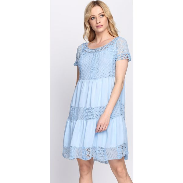 2dcda09e2e Niebieska Sukienka Hold On Tight - Niebieskie sukienki marki Born2be ...