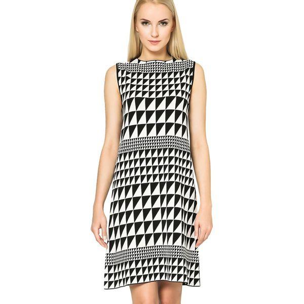 0e08722d99 Sukienka w kolorze biało-czarnym - Białe sukienki marki Deni Cler