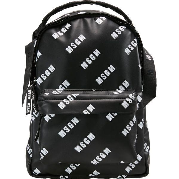 c06a95addb9f9 MSGM MONOGRAMMA BACKPACK Plecak black - Czarne plecaki marki MSGM. W ...
