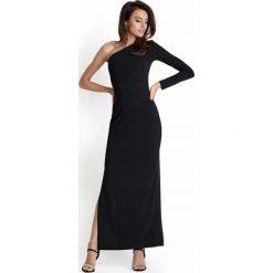 315b8b8d4a Czarna Wieczorowa Sukienka Maxi na Jedno Ramię. Sukienki marki Molly.pl. Za  119.90