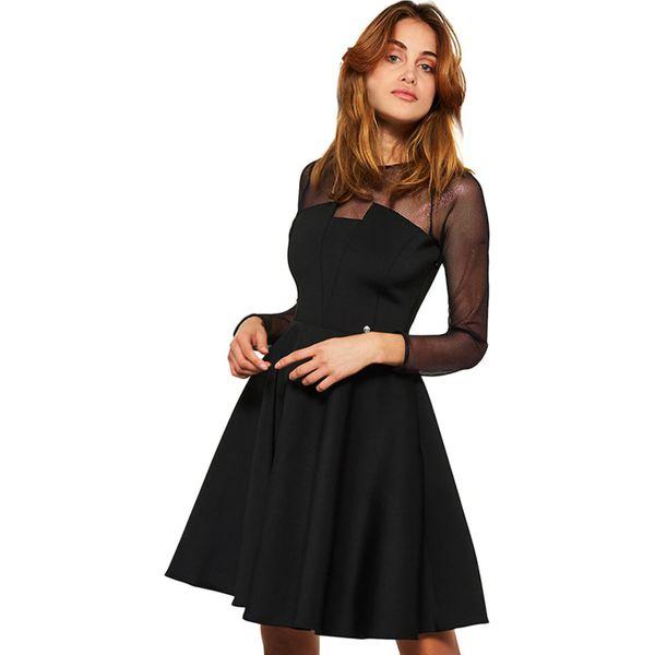 312daa9dedabbd Sukienka w kolorze czarnym - Czarne sukienki marki Simple, z ...
