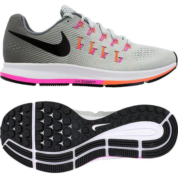 pretty nice e50e1 8a267 Nike Buty damskie Air Zoom Pegasus 33 szare r. 38 (831356 006)