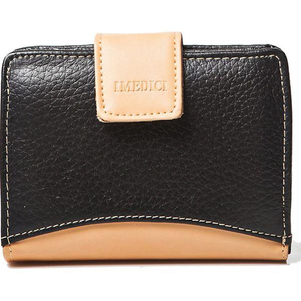 ebb4953683ffe Skórzany portfel w kolorze czarnym - 10 x 13 x 1