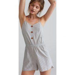 2a0644ac36331c Bawełniana piżama jednoczęściowa - Kremowy. Białe piżamy Reserved, l, bez  wzorów, z