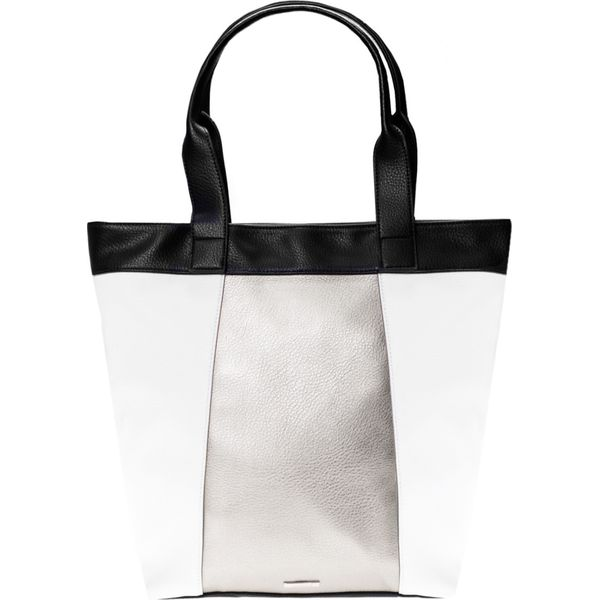 19f3e43a85f3c Duża torebka shopper QUIOSQUE - Szare shopper bag marki QUIOSQUE, w ...