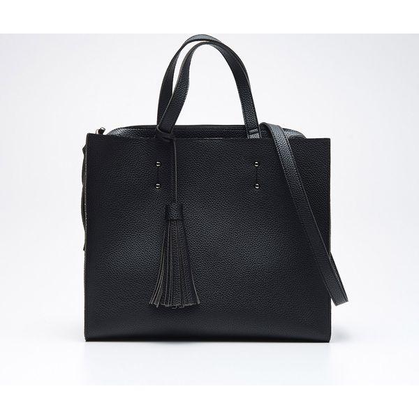 a3566dece757 Duża torba typu shopper - Czarny - Czarne shopper bag marki Cropp. W ...