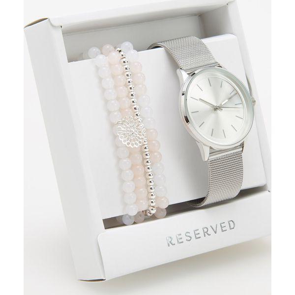 11c0ab62c24e5a Zegarek z bransoletkami - Srebrny - Szare zegarki Reserved, srebrne ...