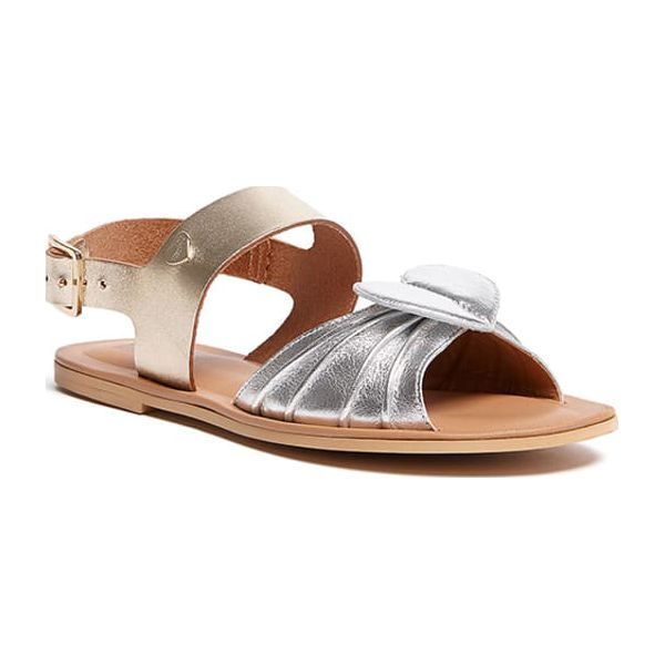 838b855de Sandały w kolorze srebrno-złotym - Sandały marki Moschino + Love ...