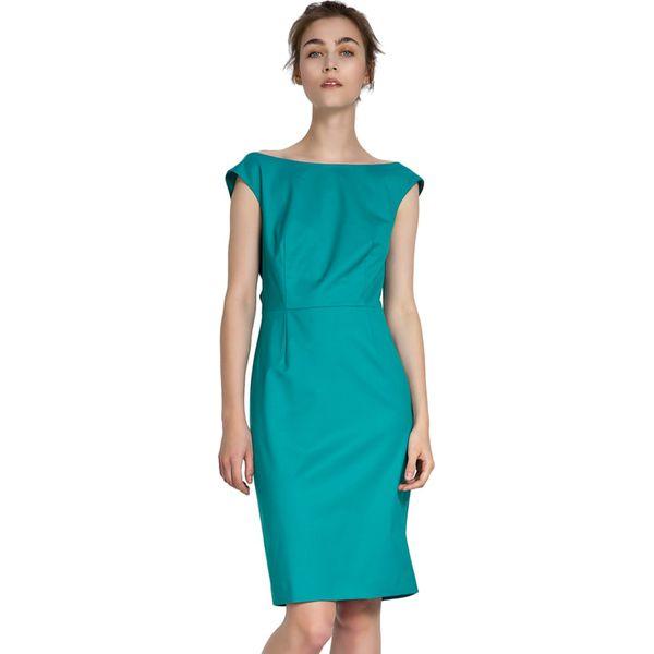 749861b289 Sukienka w kolorze turkusowym - Niebieskie sukienki marki Deni Cler ...