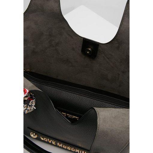 873d5a65b2891 Love Moschino SCARF SHOPPER Torba na zakupy nero - Shopper bag marki ...