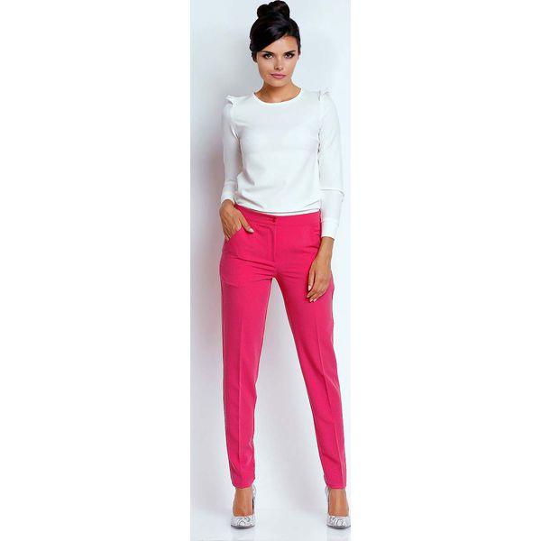 647f05c8 Różowe Eleganckie Spodnie Cygaretki - Chinosy marki Molly.pl. Za ...
