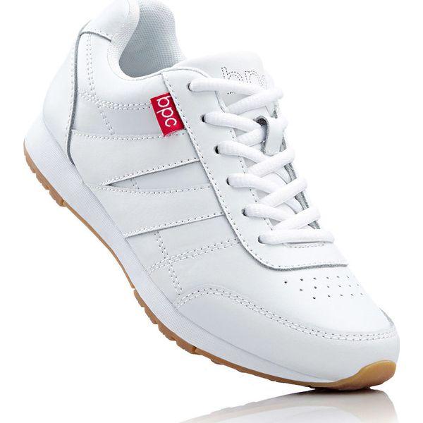 7fb2208d Sneakersy skórzane bonprix biały - Buty sportowe lifestyle marki ...