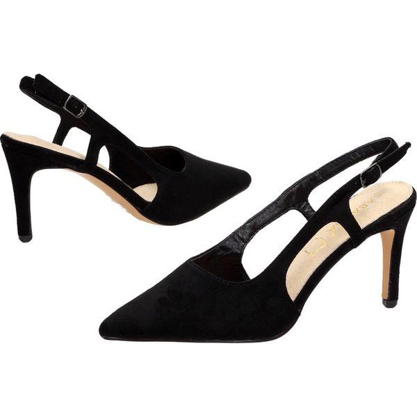 Czarne sandały damskie SABATINA DM19 45 SŁUPEK