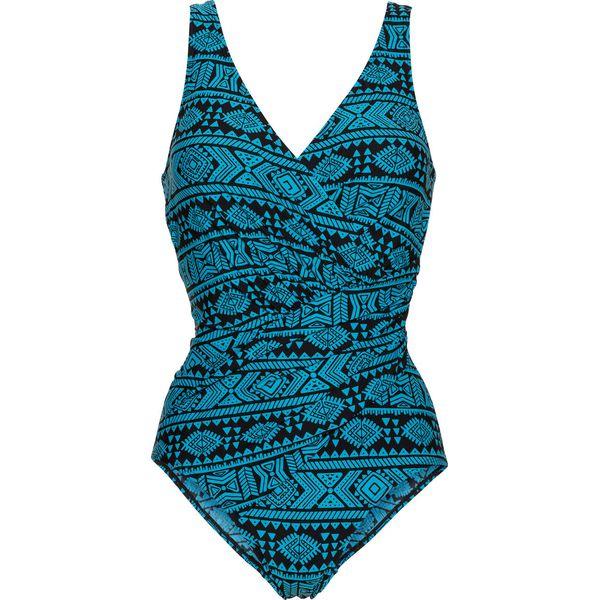 99ad47a932cc Kostium kąpielowy wyszczuplający bonprix czarno-niebieskozielony ...