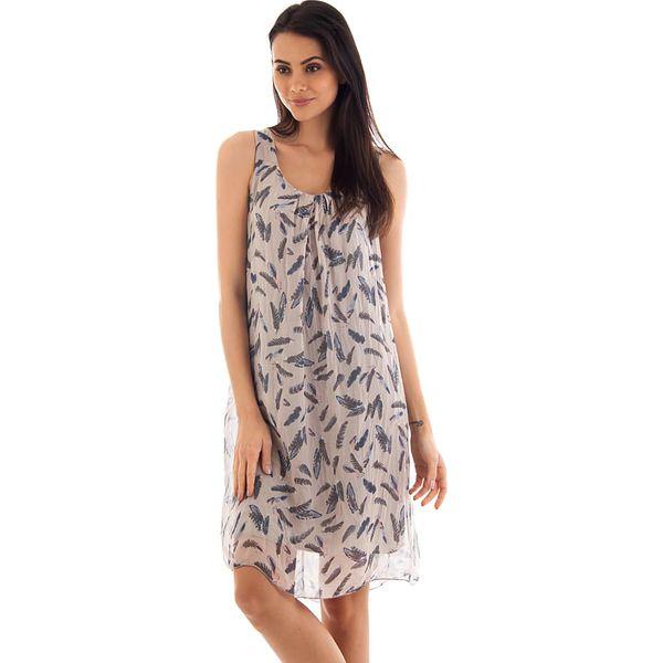 afc9751232 Sukienka w kolorze szarobrązowym - Brązowe sukienki marki Silk ...