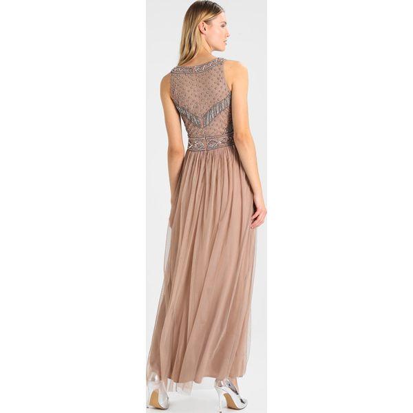 c9d6f74bdc Lace   Beads AMORA MAXI Sukienka koktajlowa taupe - Moda w Women s ...