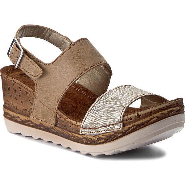 aac98b75b Sandały INBLU - NT02AO07 Beżowy - Brązowe sandały marki Inblu, ze ...