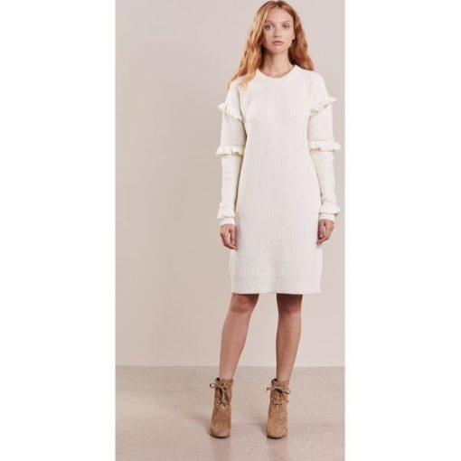 c92cc397e83f6 MICHAEL Michael Kors Sukienka dzianinowa bone - Białe sukienki marki ...