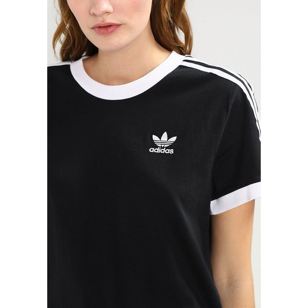 3e108a6da adidas Originals ADICOLOR THREE STRIPES TEE Tshirt z nadrukiem black ...