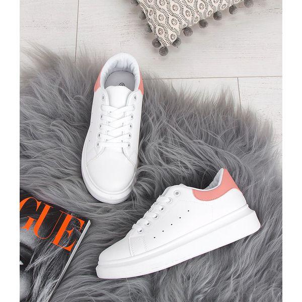 Buty sportowe damskie NM A5 Biało Różowe