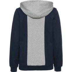 9b6aa8c10 Bluza rozpinana bonprix jasnoszary melanż - niebieski. Niebieskie bluzy  marki bonprix, melanż, sportowe