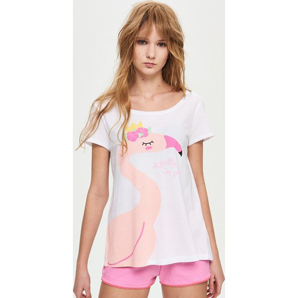 0ae7cf68a56bde Piżama z szortami - Biały - Białe piżamy marki Sinsay, l. Za 39.99 ...