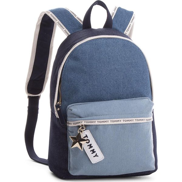 9a8df62cd694a2 Plecak TOMMY HILFIGER - Th Logo Tape Mini Backpack Denim AW0AW05086 ...