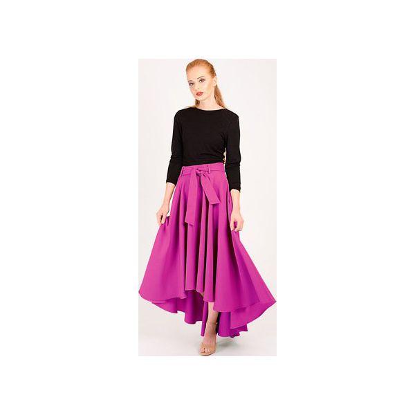 39c58dd7 fioletowa spódnica maxi z koła