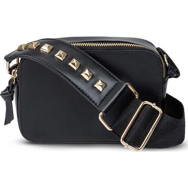 140b95122b8ee Mała torebka na ramię z ćwiekami bonprix czarno-złoty kolor - Czarne ...