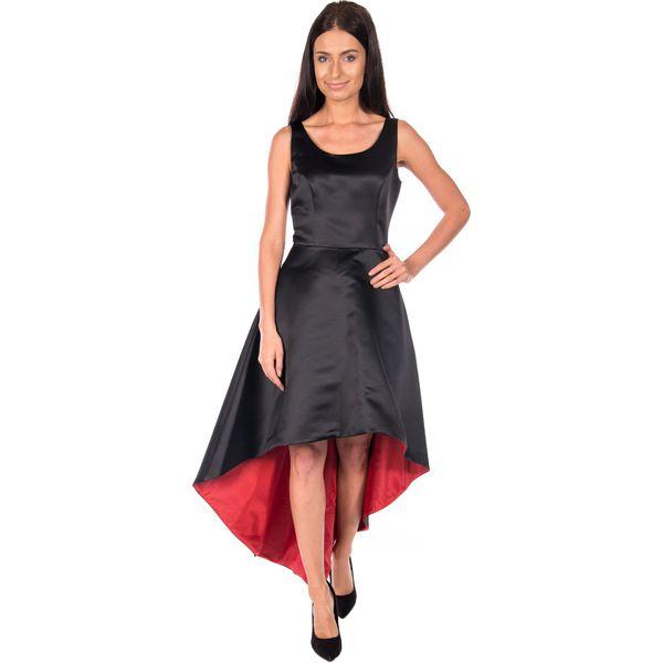 8e19d14e Asymetryczna czarna sukienka BIALCON