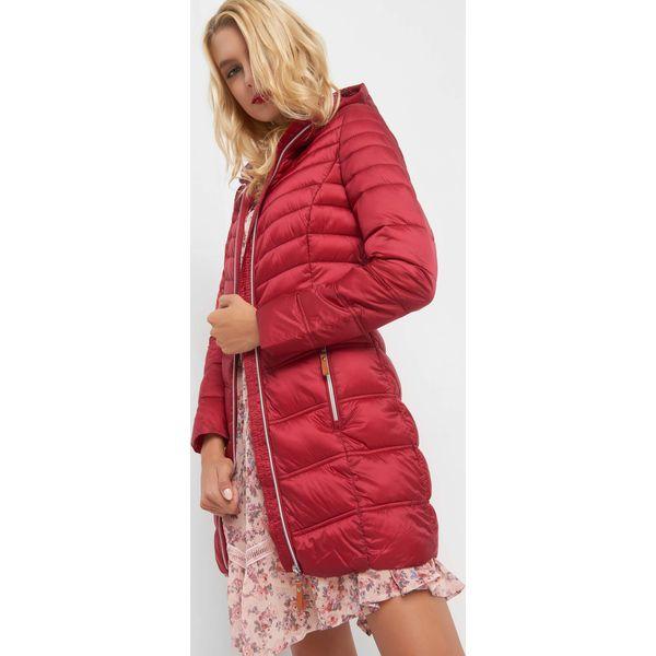 3a61ebf9d7ec Długa kurtka pikowana - Czerwone kurtki marki Orsay
