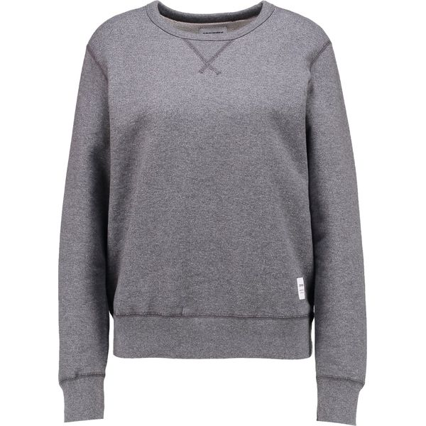 8fb5b4cee59f5 Converse ESSENTIALS CREW Bluza mottled dark grey - Szare bluzy marki ...