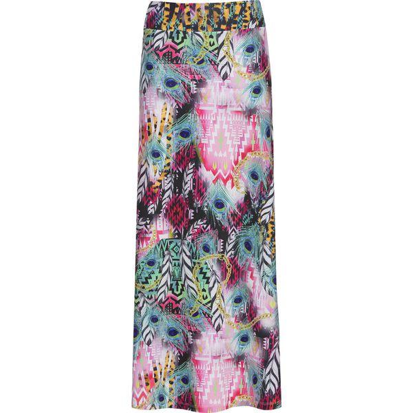 82c1ef2a Długa spódnica plażowa bonprix jasnoróżowo-niebieski wzorzysty