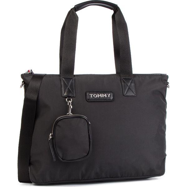 d41ecc3132771 Torebka TOMMY HILFIGER - Varsity Nylon Tote AW0AW06114 002 - Shopper ...