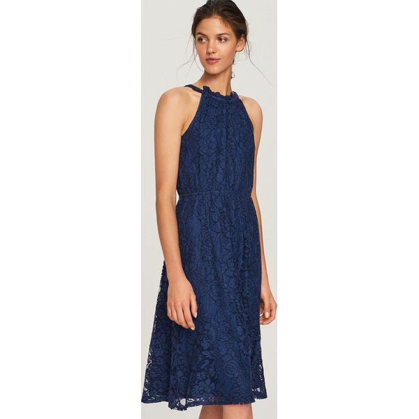 720b67cc49fbc6 Koronkowa sukienka - Granatowy - Niebieskie kombinezony marki ...