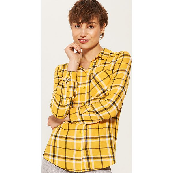 85b9a6eccc Koszula w kratę - Żółty - Koszule marki House. W wyprzedaży za 29.99 ...