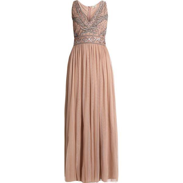 0c046b5831 Lace   Beads AMORA MAXI Sukienka koktajlowa taupe - Różowe sukienki ...