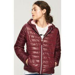 c57135d76d006c Pikowana kurtka z kapturem - Bordowy. Czerwone kurtki Sinsay, l, bez wzorów,