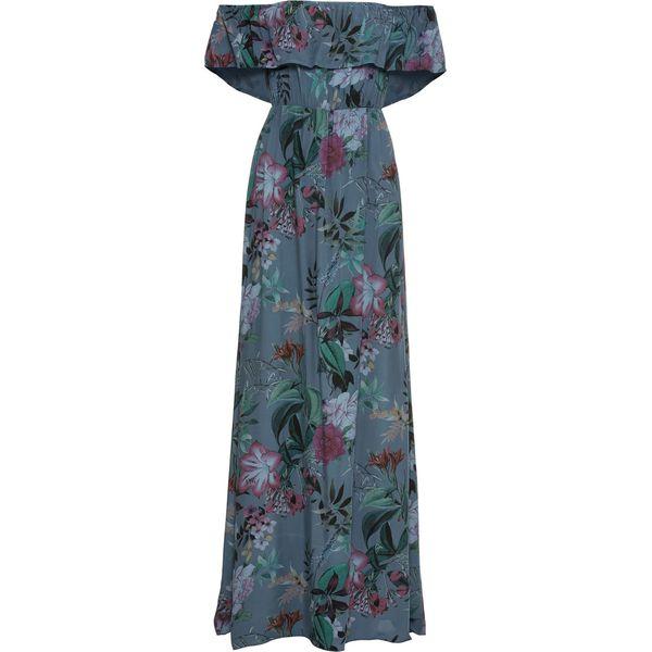 b24113b5e7 Długa sukienka w kwiaty bonprix niebieski - Niebieskie sukienki ...