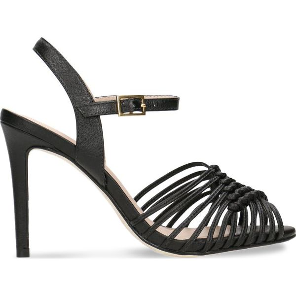 d771b7cb0b76e Sandały ZURI - Czarne sandały marki Gino Rossi, w ażurowe wzory, ze ...
