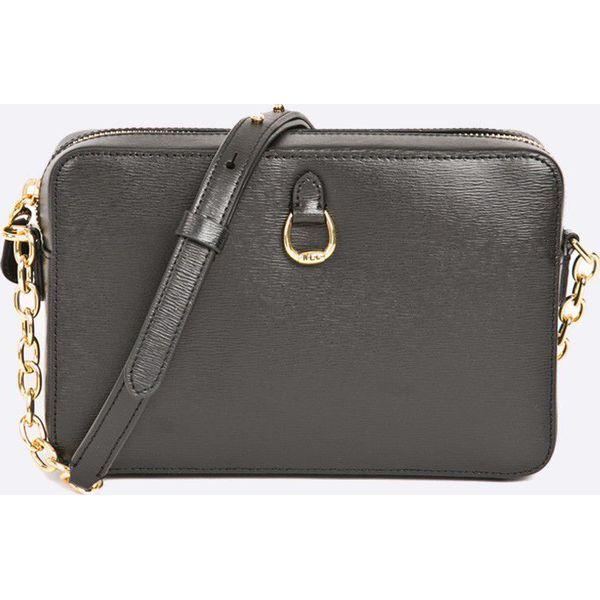 6e401d5f16041 Lauren Ralph Lauren - Torebka skórzana Camera Bag - Szare torebki ...
