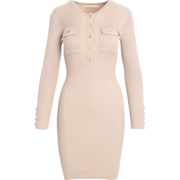 a09a43a2bd Beżowa Sukienka Keep Turning - Brązowe sukienki marki Born2be