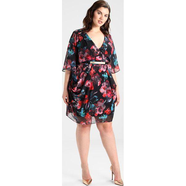41d805d844 City Chic DRESS WRAP GEO Sukienka koktajlowa multicolor - Szare ...