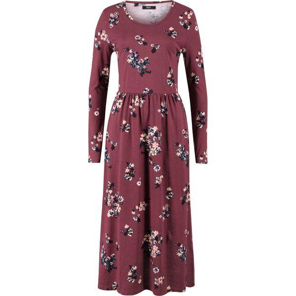 sukienki w kwiaty długi r ekaw bon prix