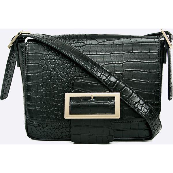 e1db8461ceb74 Ochnik - Torebka - Czarne torebki klasyczne marki Ochnik, w paski, z ...