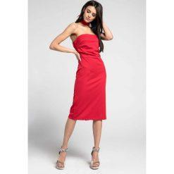 4794a60d04 Czerwona Elegancka Dopasowana Sukienka z Odkrytymi Ramionami. Sukienki marki  Molly.pl. Za 112.90