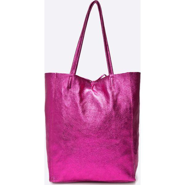 1e31f6eaab991 Answear - Torebka skórzana Violet Kiss - Różowe shopper bag ANSWEAR ...