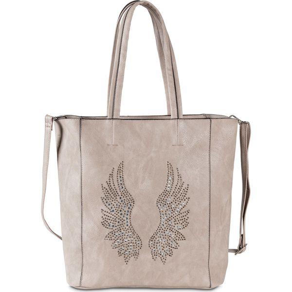 2ea174b5b6d74 Torebka z aplikacją bonprix szary - Szare shopper bag bonprix