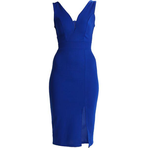 eaa9c1c61437 WAL G. V NECK MIDI Sukienka etui dark cobalt blue - Niebieskie ...