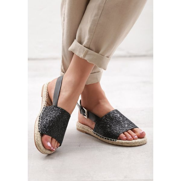 Czarne Sandały Coquetry